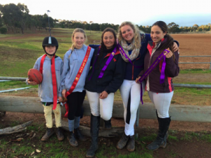 Georgia with her younger brother Jack join other YHPC siblings, Susannah & Isabella, along with Maddy, all having fun at an MGA games competition.